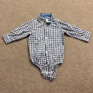 4/$20 Button down dressy onesie 9 month